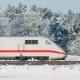 Bahn lässt ICE-Züge wegen Winterwetters langsamer fahren