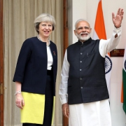 Theresa May in Indien