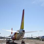 Halbfertige Airbus-Flugzeuge