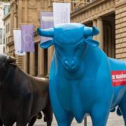 Blauer Bulle auf Börsenplatz