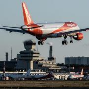 Easyjet am Flughafen Tegel