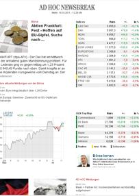 Vorschau Börsenbrief 'ad hoc newsbreak'